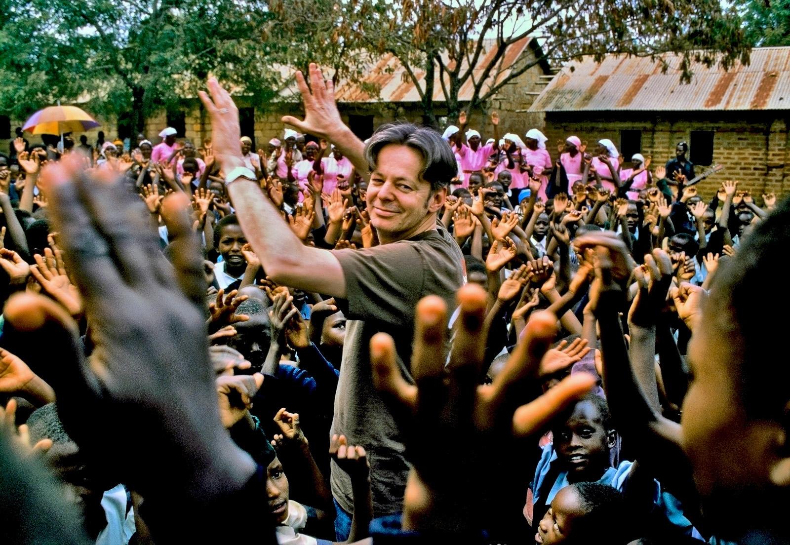 Tommy Emmanuel, school concert, rural Kenya