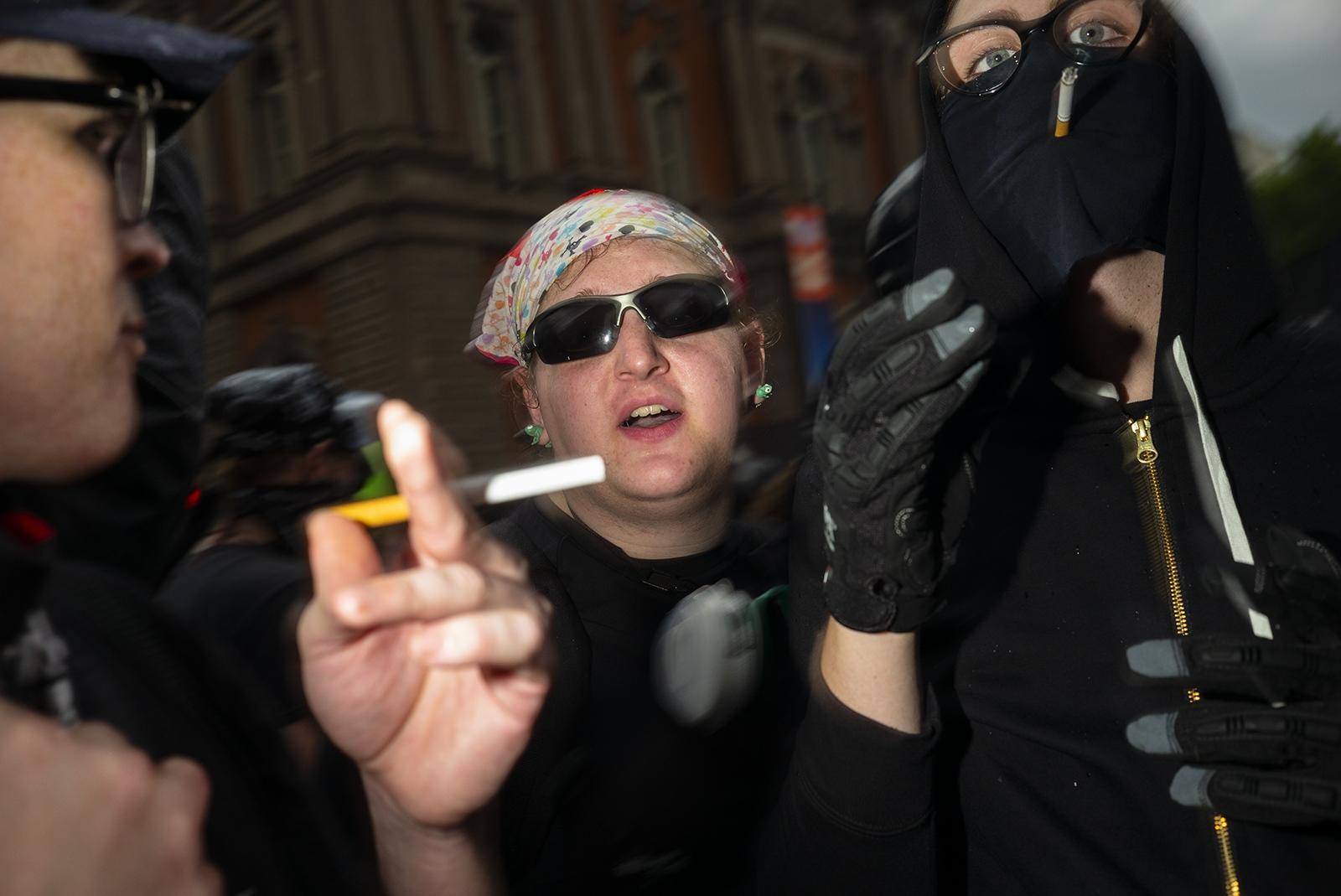 Members of Antifa.