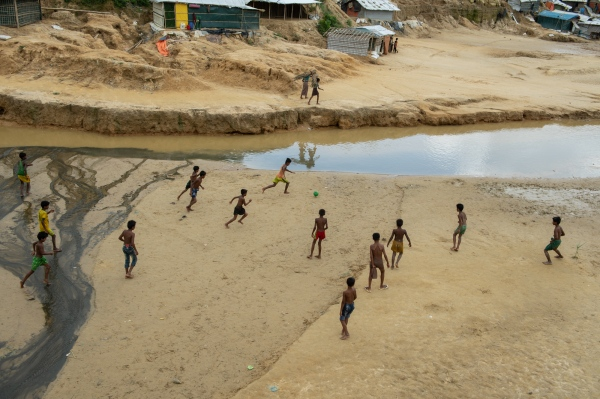 Rohingya Football Match in Refugee camp