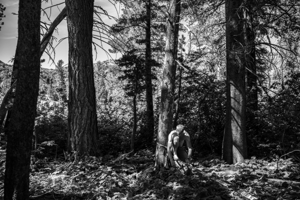 A Man In The Woods - Photography project by Sarah Morris