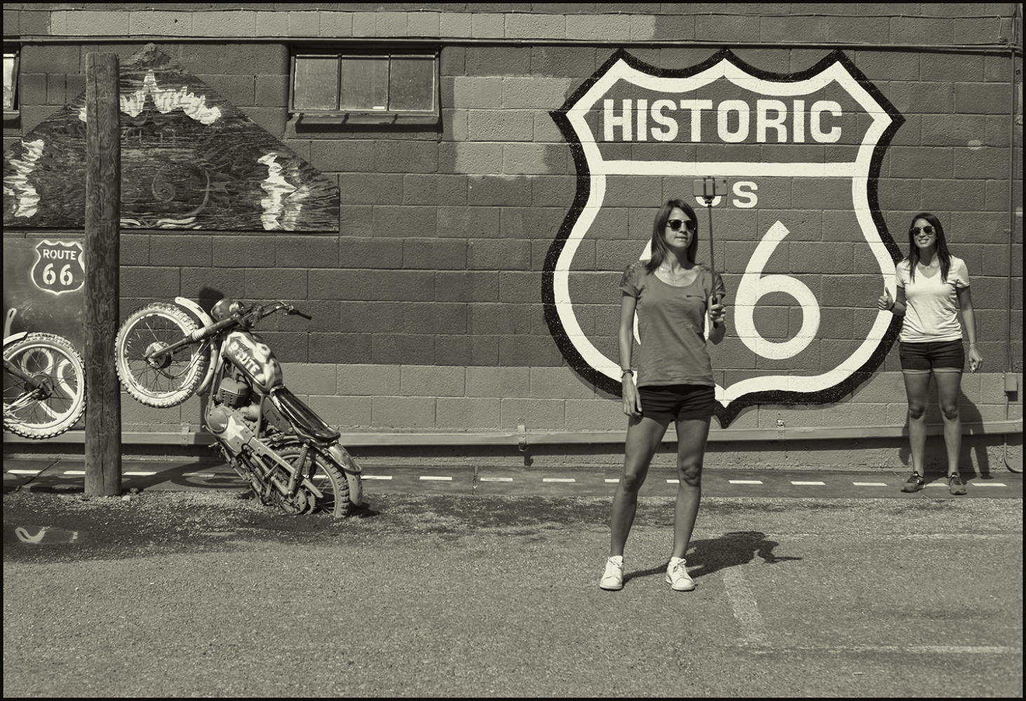 """Selfie"" Historic US Rt.66. Seligman, Arizona USA. September 2018."