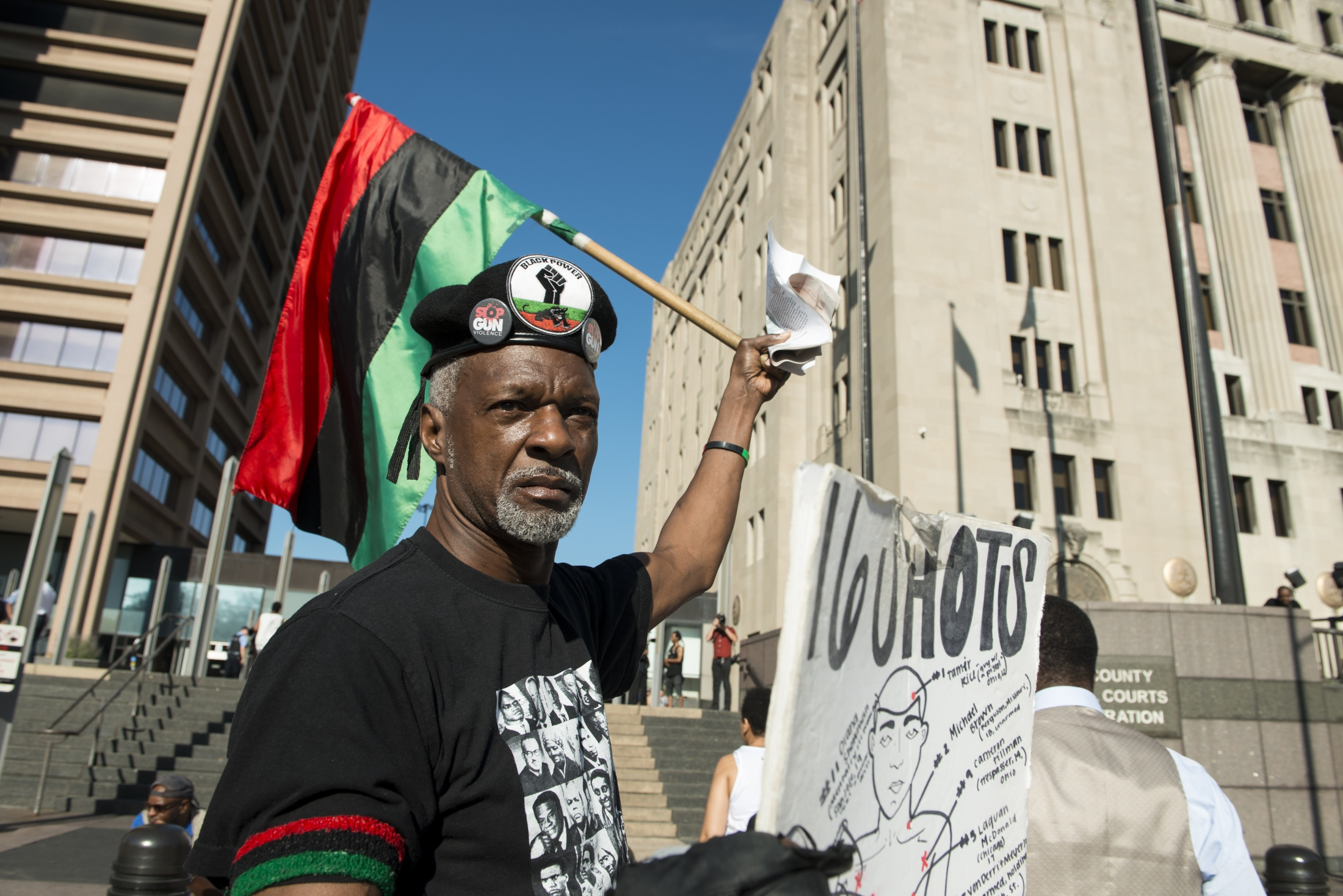 Photography image - 09.05.18 sights from the Protest outside 26th and California as jury selection gets underway for the trial against Chicago Police Officer Jason Van Dyke. First Chicago police officer to ever be indicted for first degree murder.