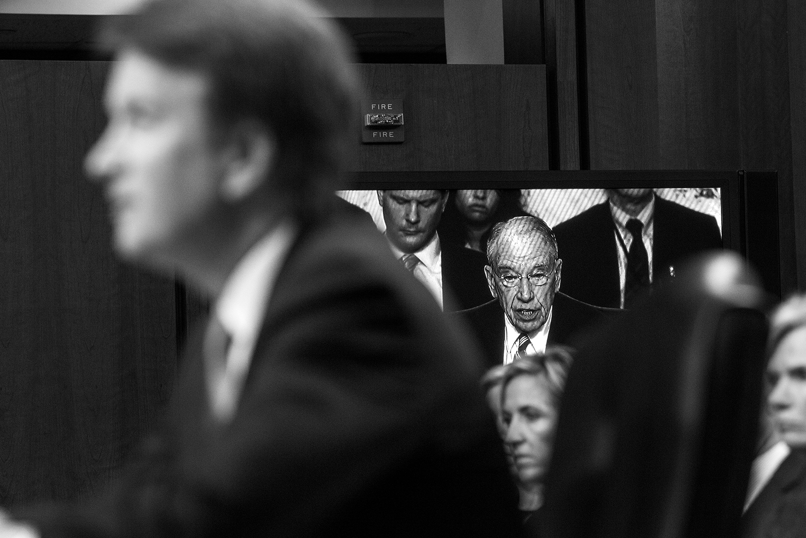 Chairman of the Senate Judiciary Committee Chuck Grassley opens the second day of the confirmation hearing for Brett Kavanaugh.