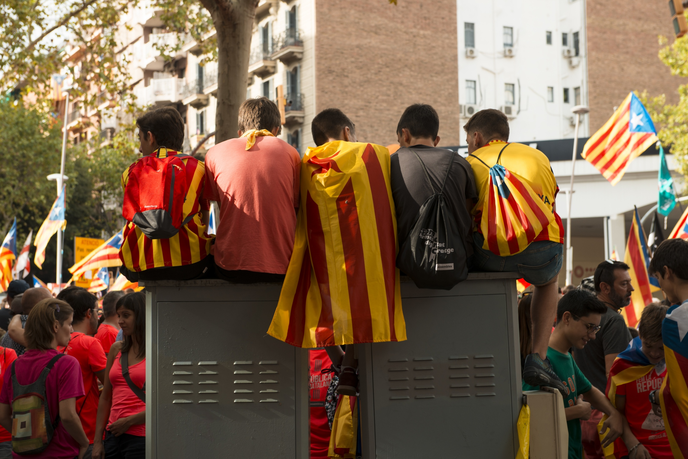 Photography image - 09.11.18 Over 1 million Cataluñas march in Barcelona to demand independence from España and the release of political prisoners