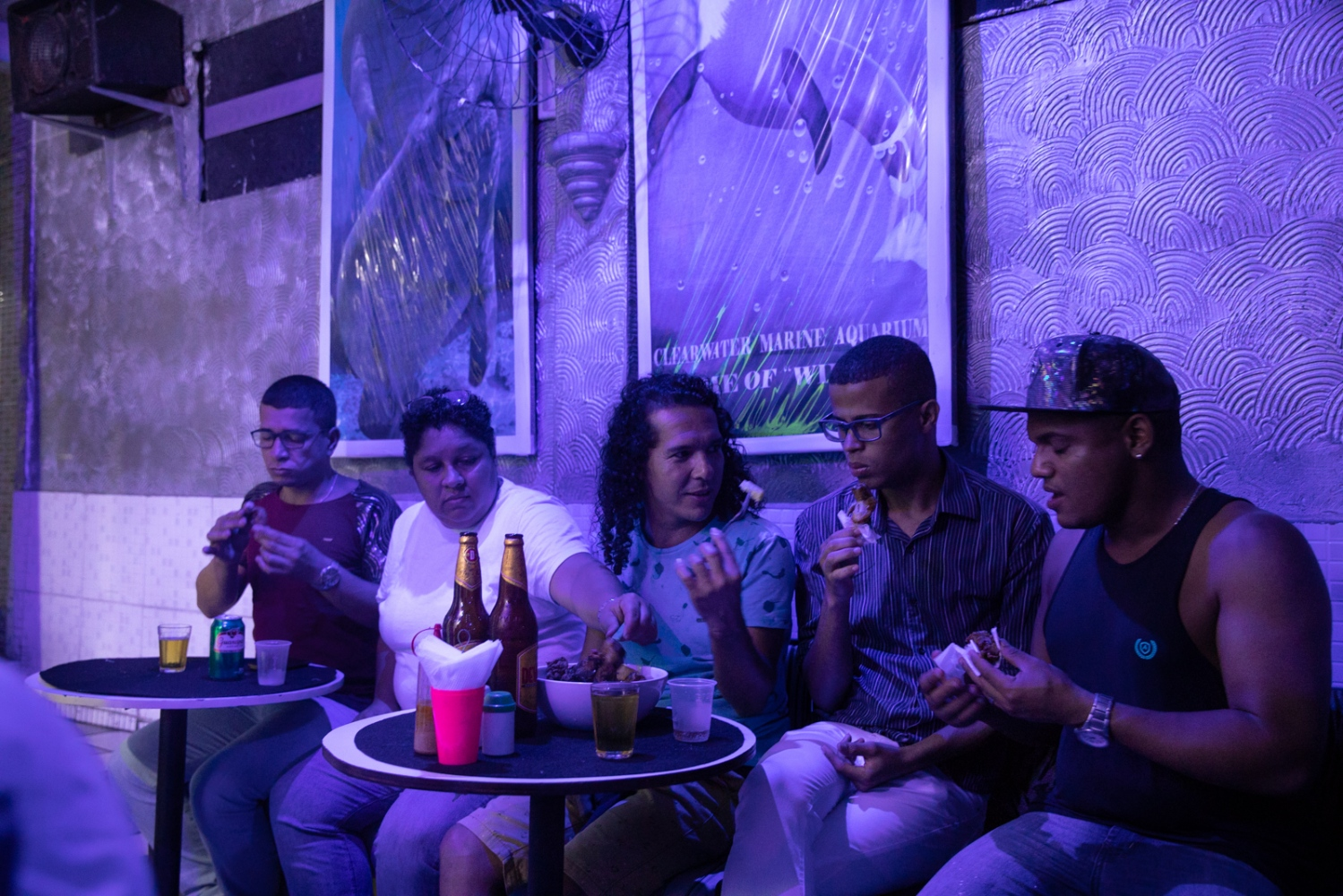 Friends and people of the LGBT mouvement of Bahia together at the Marujo's bar, a underground bar in Salvador for LGBT concerts and Drag Queen shows.