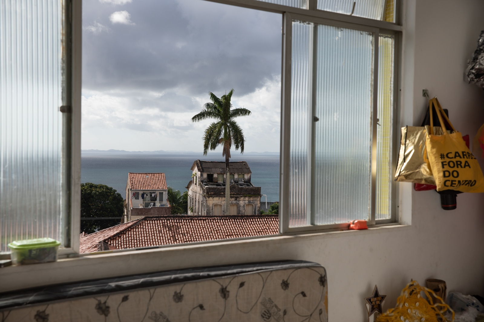 View from Teodoro's apartment at 2 de Julho neighbourhood in Salvador. The 2 de Julho region is a underground central region of the city where many LGBT bars and nightclubs had open recently. Salvador.