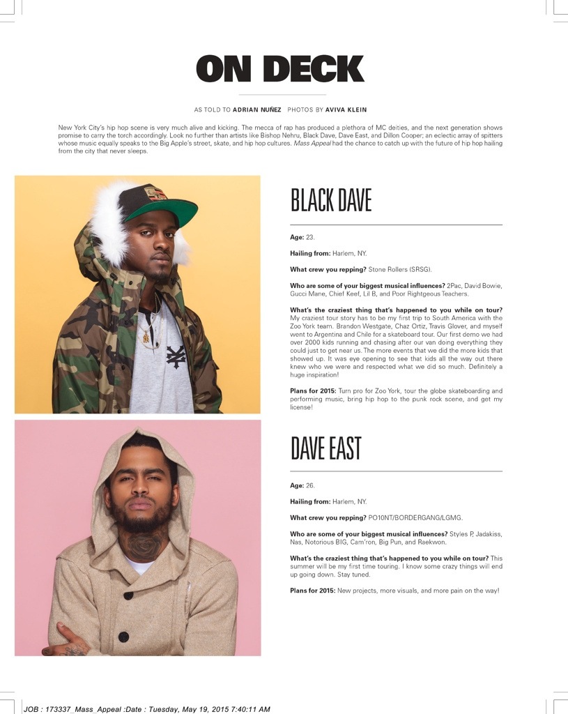 MASS APPEAL Black Dave & Dave East