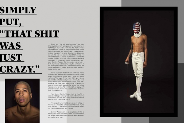 UNDO Magazine    Miles Chamley-Watson