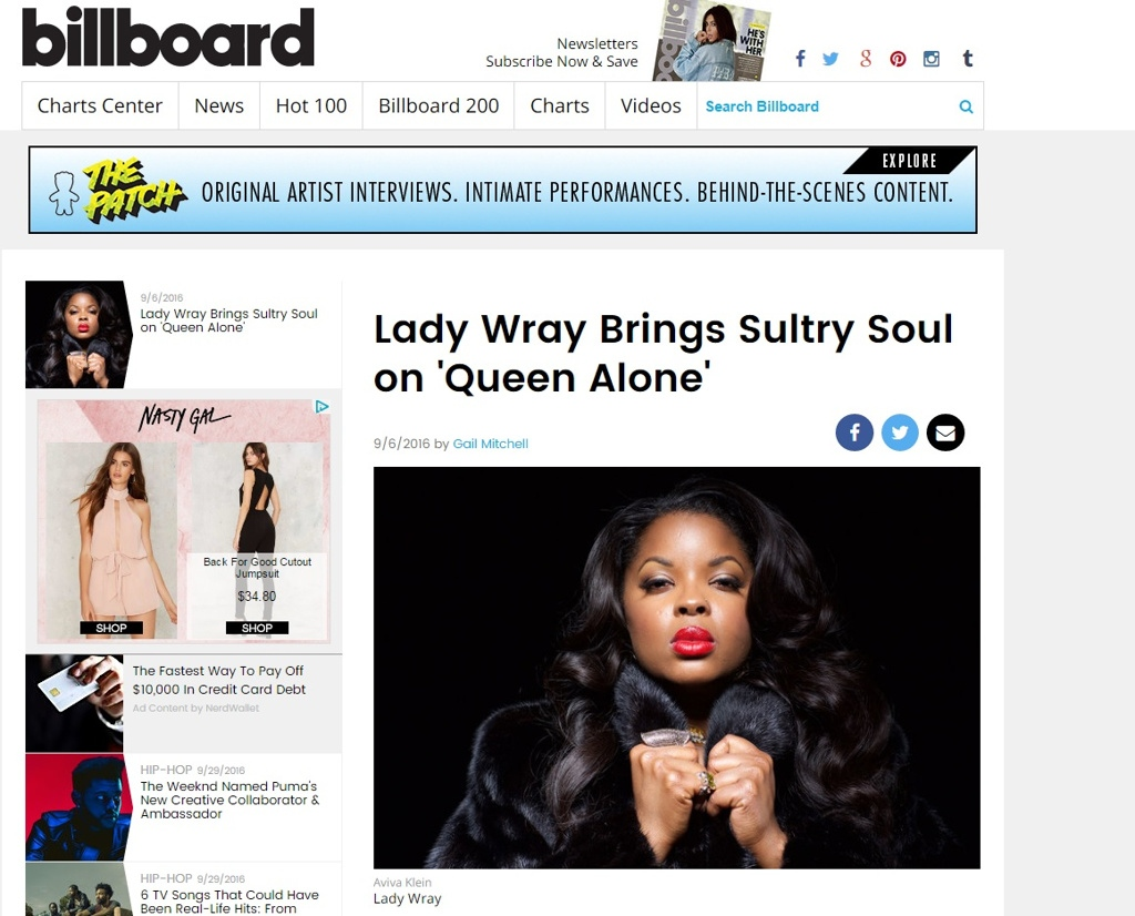 BILLBOARD LADY WRAY