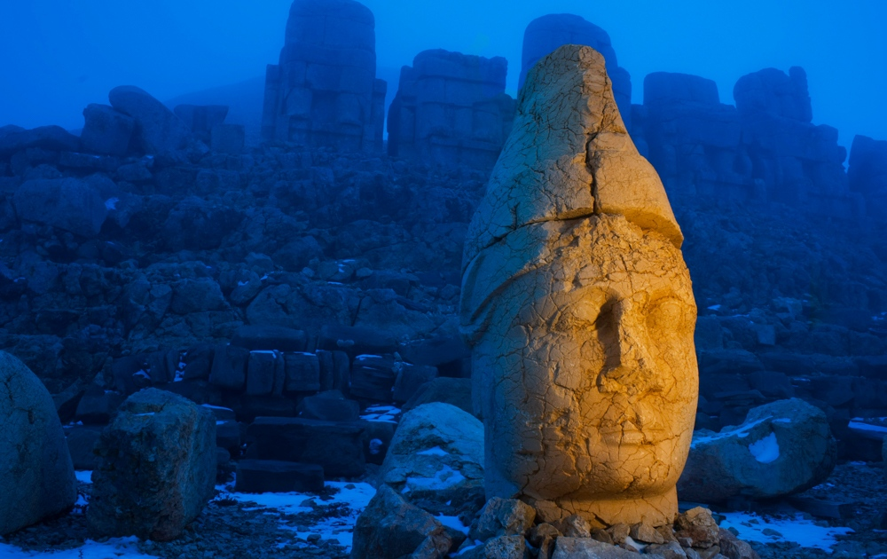 The ancient statues of Mt. Nemrut