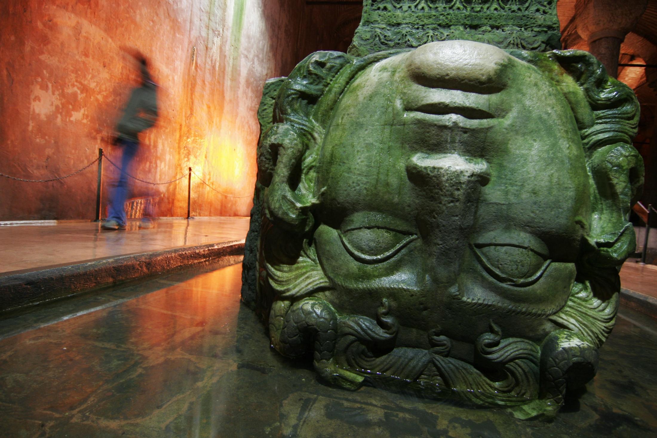 Yerebatan Cistern beneath Istanbul