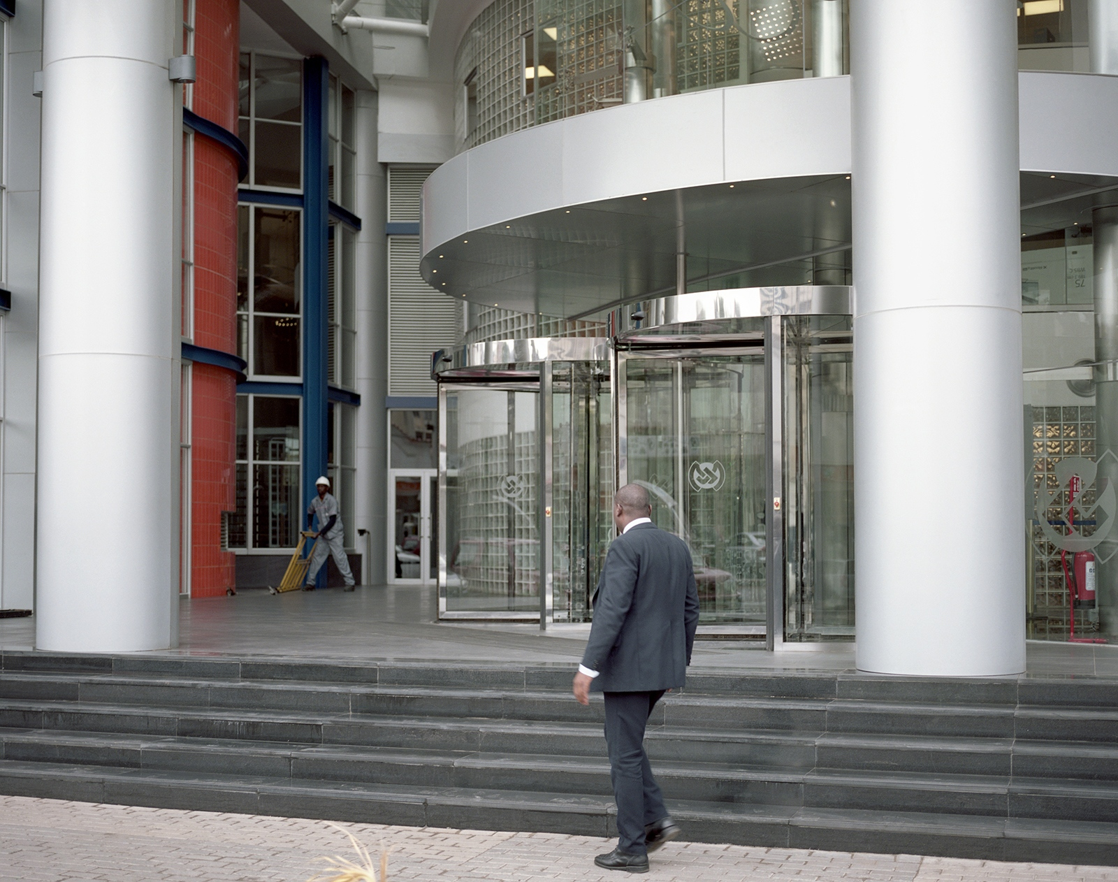 A view of the entrance of the new building of the Bank of Mozambique.