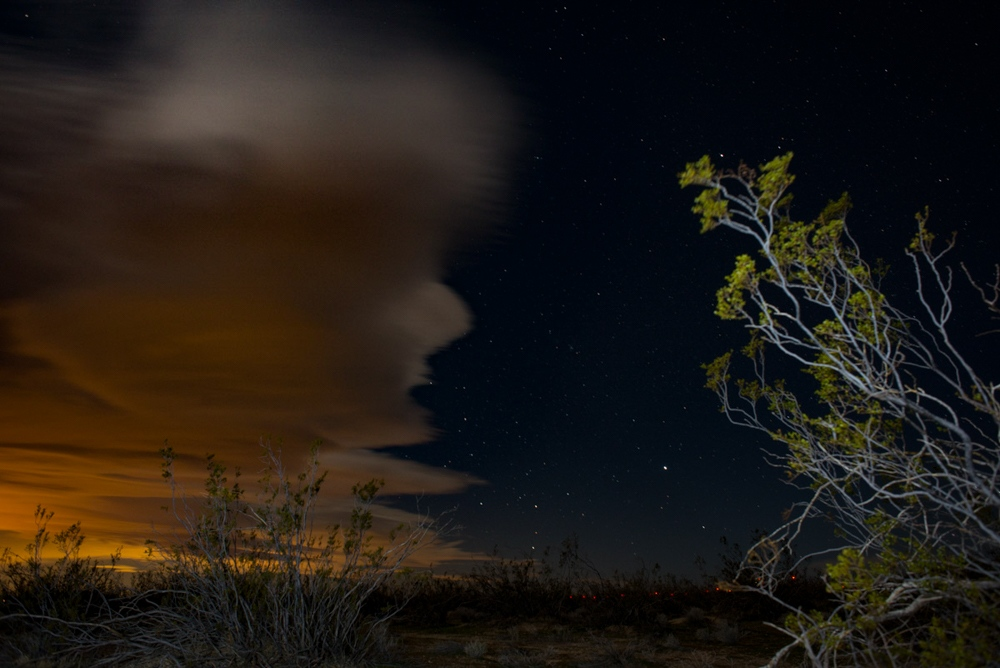 El Nino Clouds Mojave, California