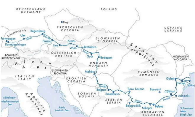 We followed the flow of the Danube river from its source in the Black Forest to its outlet into the Black Sea.  34 days, 2800 kilometers, 19 cities.