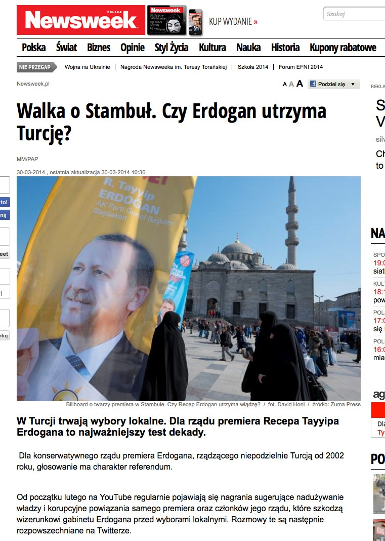 Newsweek Poland Photographed in Istanbul, Turkey