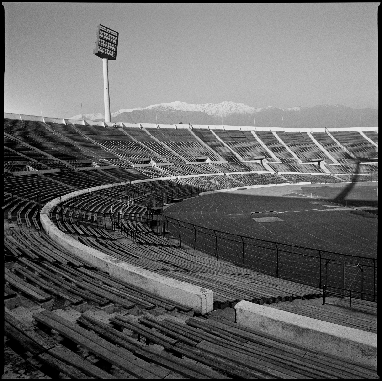 Chile national stadium. This stadium was used during the military coup of September 1973 as a concentration camp for the political opposition, and were interrogation, torture and death were commonly used. Santiago, Chile, November 2008.