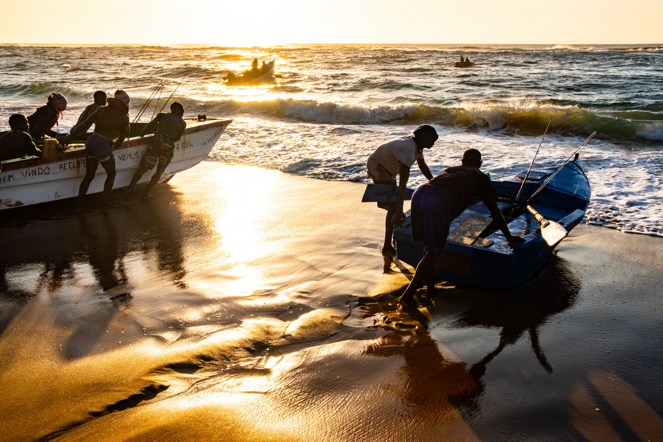 Fishermen. Závora, Mozambique