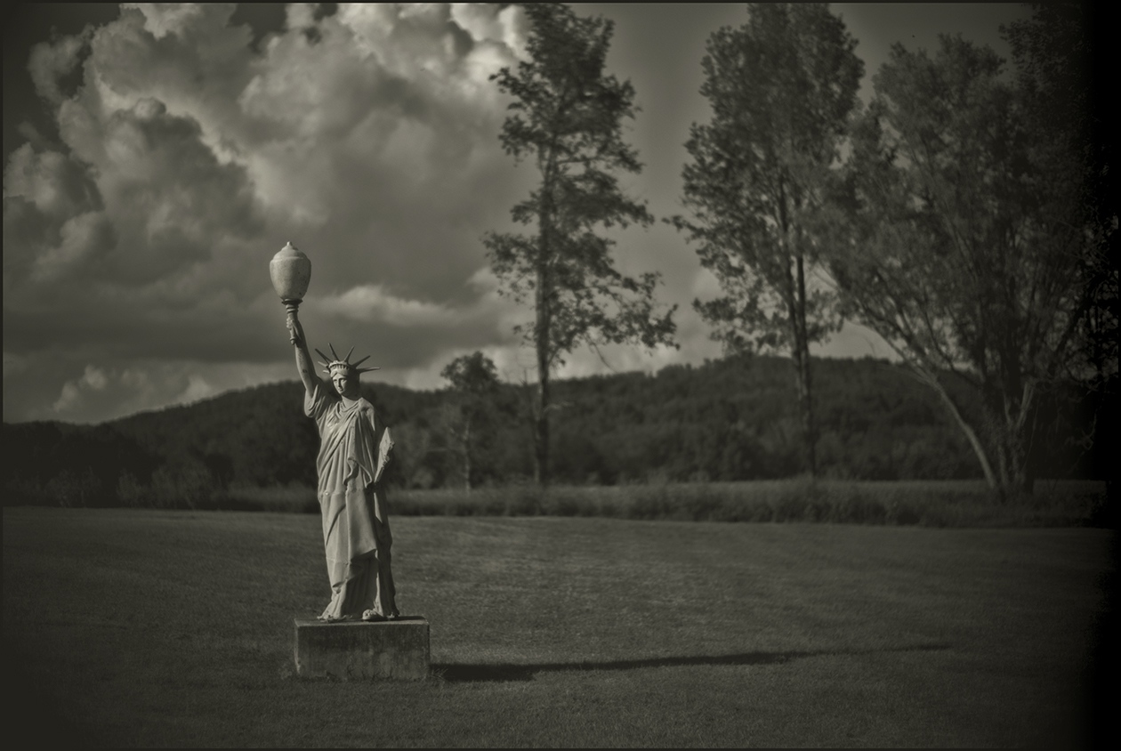 """""""Lady Liberty"""", county road, Pal Mal, Tennessee, USA October 2016."""