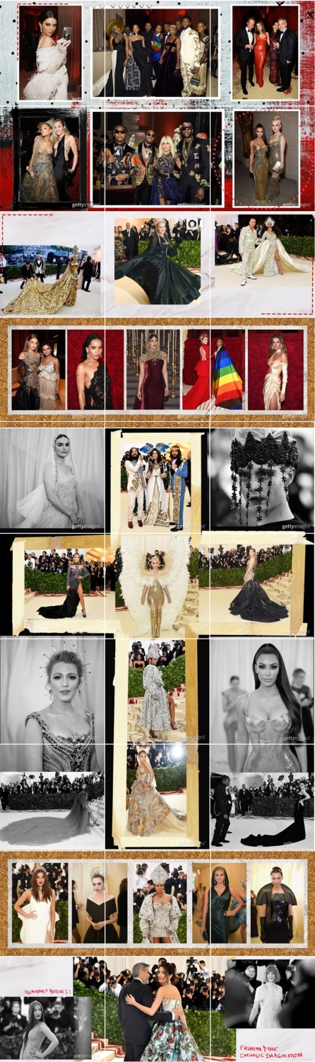 Instagram - @GettyEntertainment MET Gala 2018 Layout