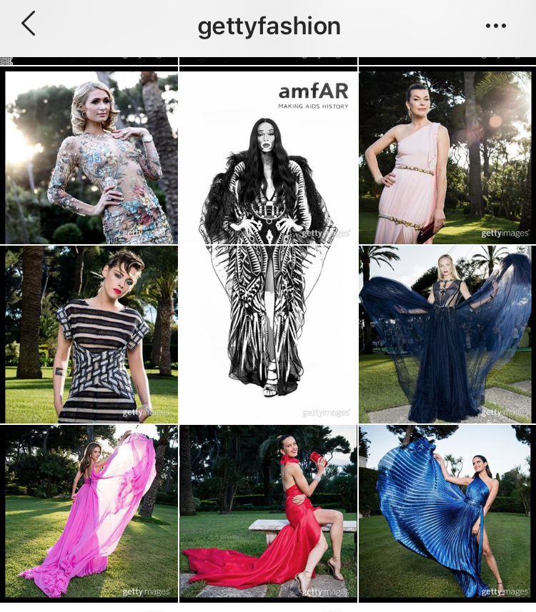 Instagram - @GettyFashion amfAR Gala Cannes 2018 Layout