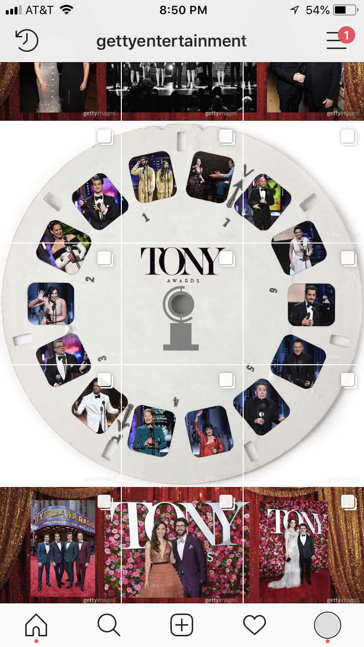 Instagram - @GettyEntertainment 2018 Tony Awards Layout