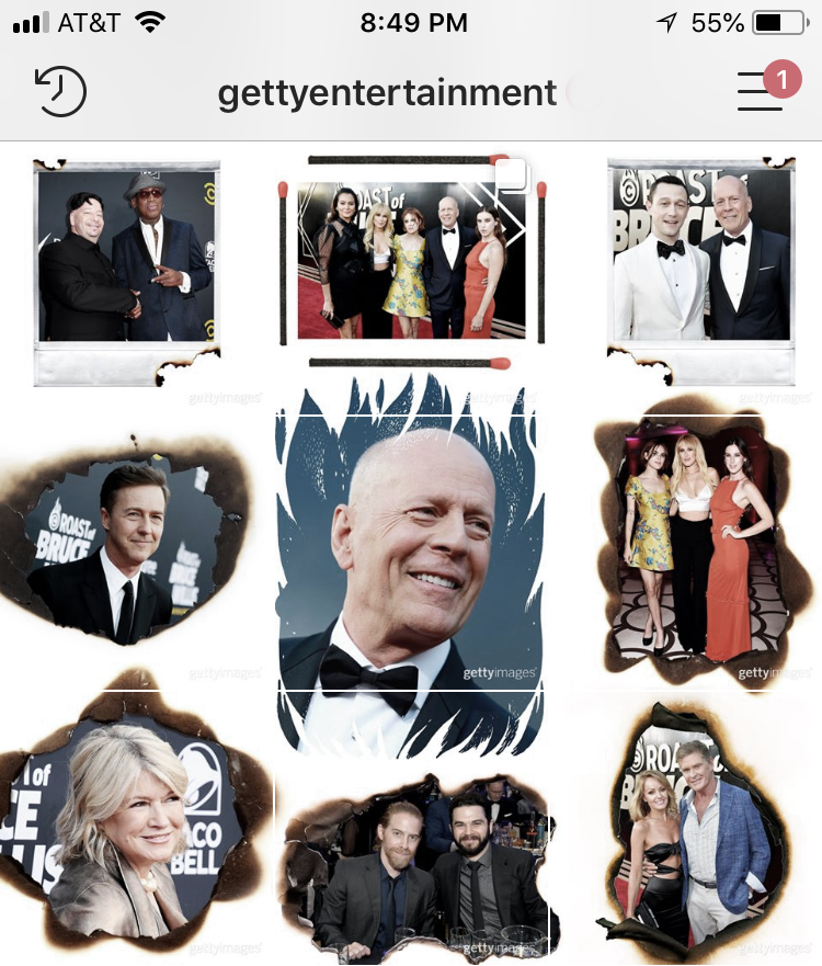 Instagram - @GettyEntertainment 2018 Comedy Central Roast of Bruce Willis Layout