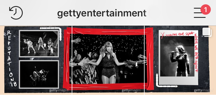 Instagram - @GettyEntertainment Taylor Swift reputation Tour Layout