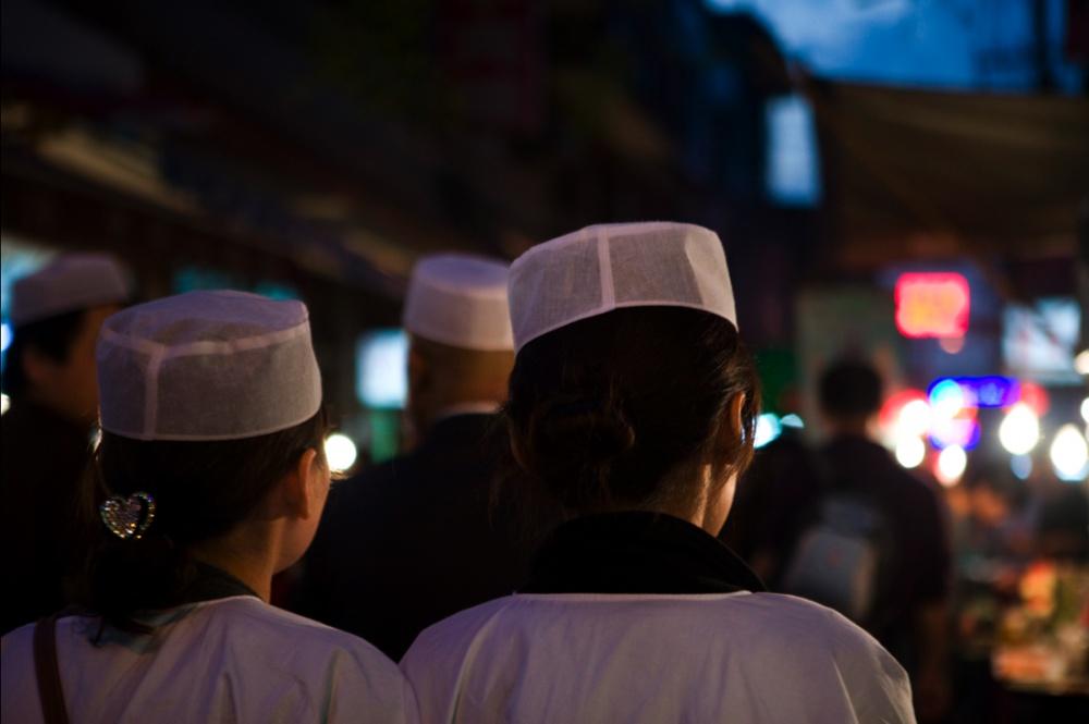 Barrio musulmán de Xi'an , mercado de comida/ Muslim Quarter food market. Xi'an