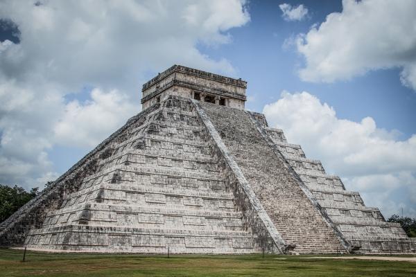Aztec Temple, Chichen Itza, on Mexico's Yucatan Peninsula.
