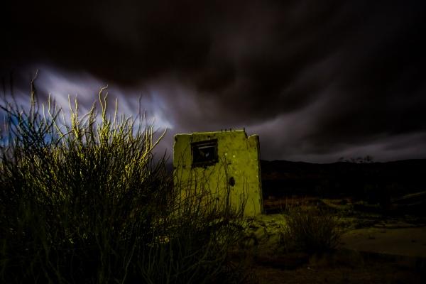 Abandoned building in Mojave Desert.