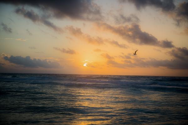 Sunrise in Cancun Mexico.