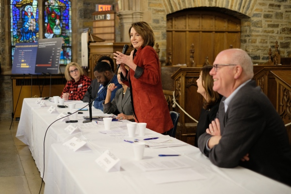 At All Saints Episcopal Church, House Minority Leader Nancy Pelosi town hall. Woodhaven, March 2018