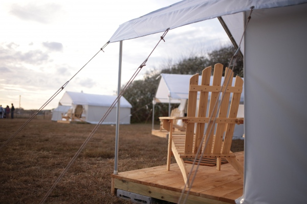 Camp Rockaway, the only place on the beach where overnight camping is permitted. October 2017