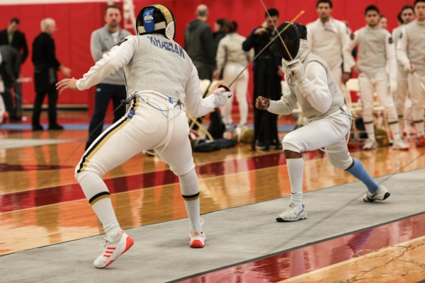 Invitational fencing tournament at St. John's University. Jamaica Estates, January 2018