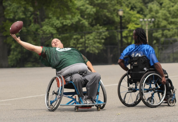 Wheelchair football league in Forest Park. Woodhaven, July 2017