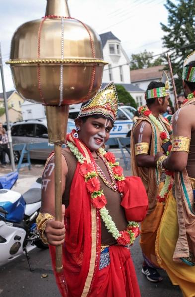 Children dress up as Hindu gods for the Diwali parade. Richmond Hill, November 2017