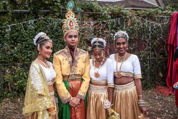 Indo-Caribbean kids from central Queens dress up for Diwali. Richmond Hill, November 2018.