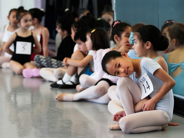 Try-outs for the School of American Ballet at Frank Sinatra High School of the Arts. Astoria, April 2016