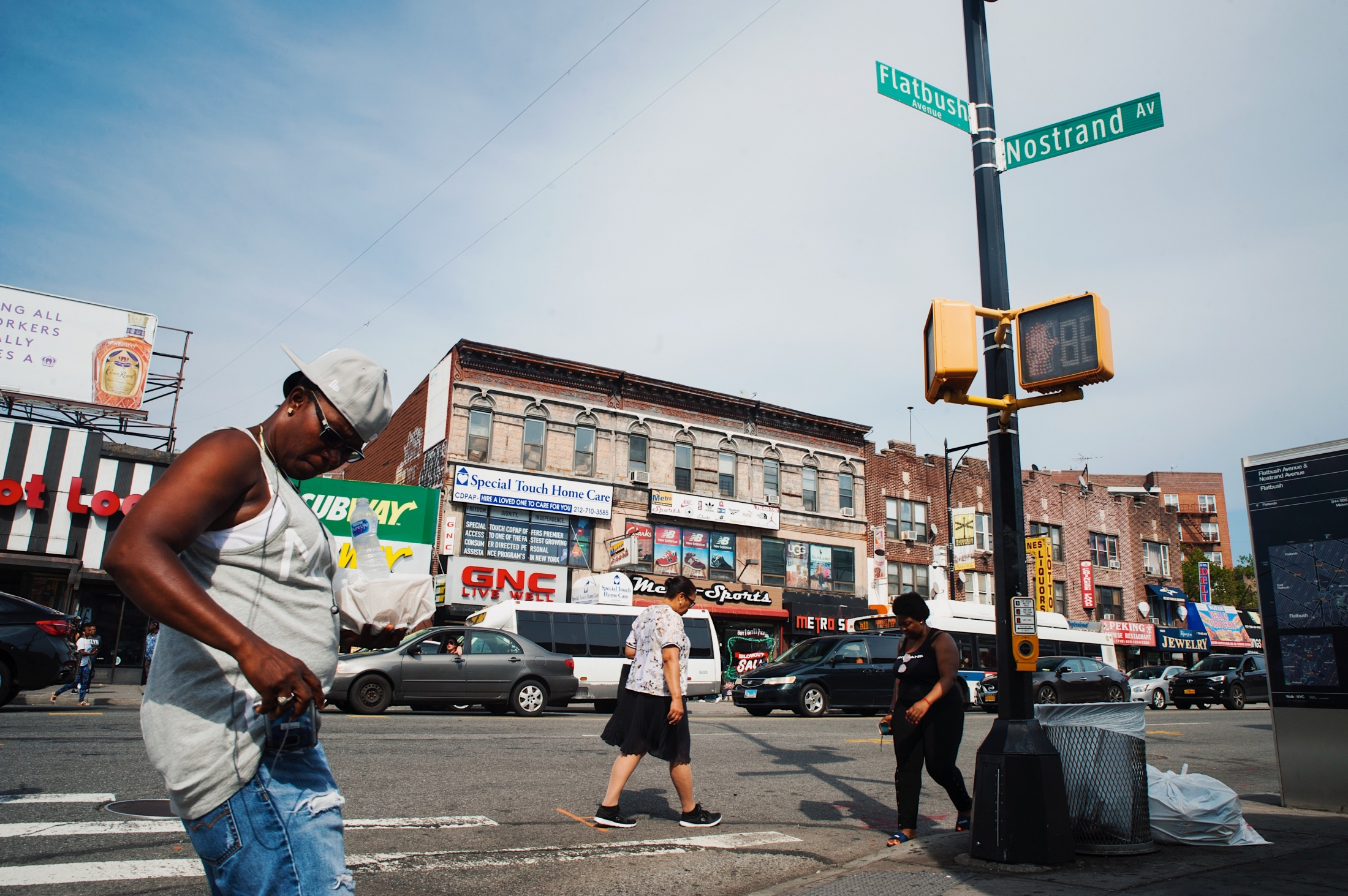 The corner of Flatbush and Nostrand, also known as Flatbush Junction.