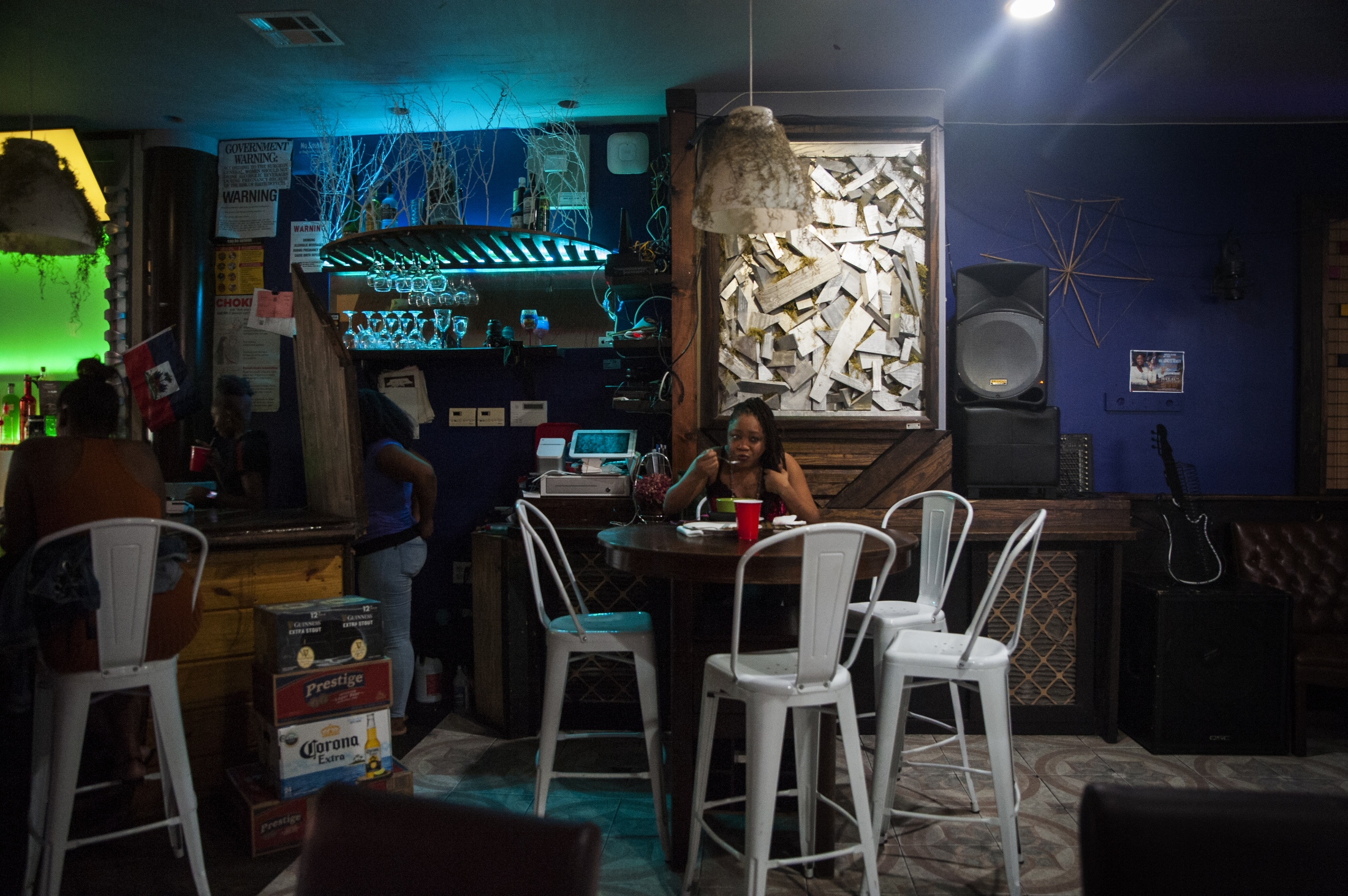 Inside the Tonel Restaurant & Lounge on Newkirk and Rogers in Flatbush, New York.