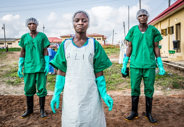 Some staff of the waste management unit strike a pose. The waste management unit at the Infection Control Center at the Federal Medical Center, Owo, Ondo state was created by ALIMA. Staff of the unit are recruited and trained by ALIMA.