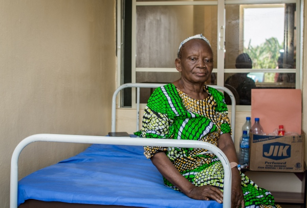 "Elizabeth Johnson, a sexagenarian in the Lassa ward at the Infection control center, Federal Medical center, Owo, Ondo state. In her words, ""I am a lot better now, thank you ALIMA"". At the Infection Control Center, ALIMA provides free care for all patients at the center."