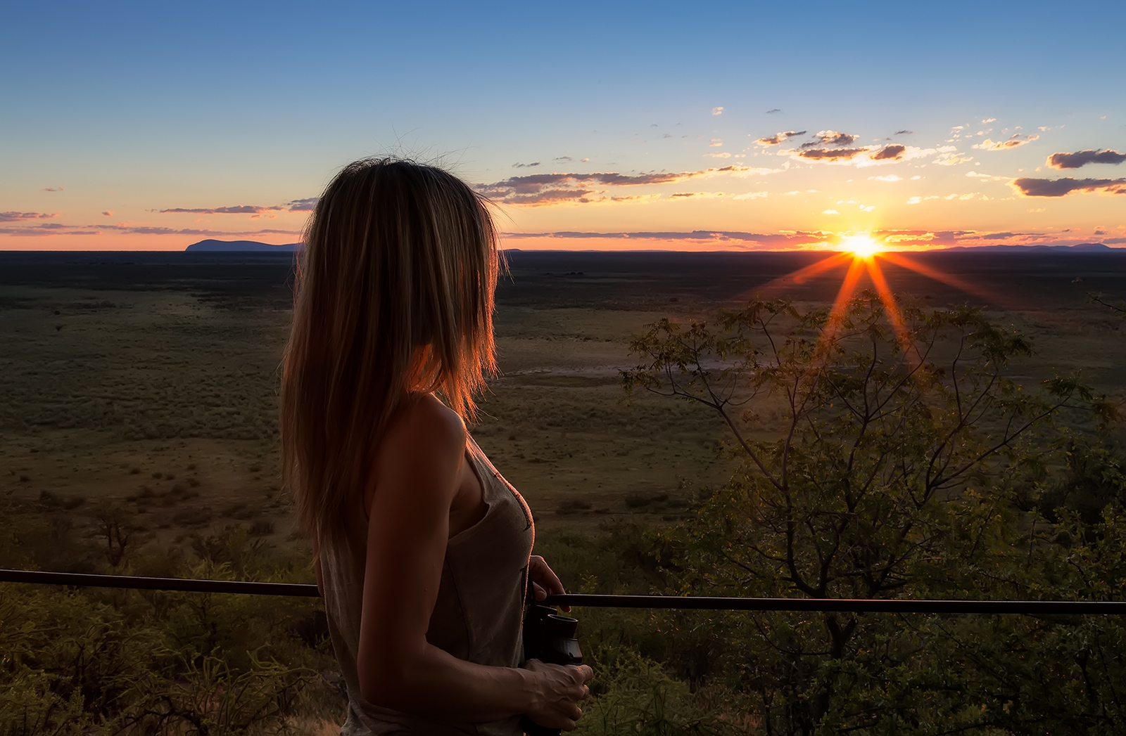 Sunset. Ethosa National Park. Kenya.