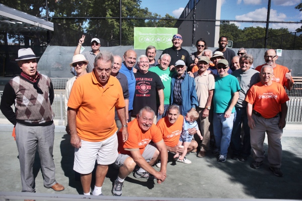 Final four teams in Queens bocce championships. Middle Village, September 2017