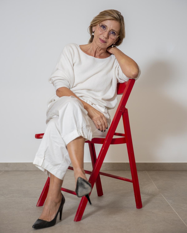"""The journalist and italian writer Concita De Gregorio, in Peccioli (PISA) for the event """"Potrebbe andare Peccioli"""""""