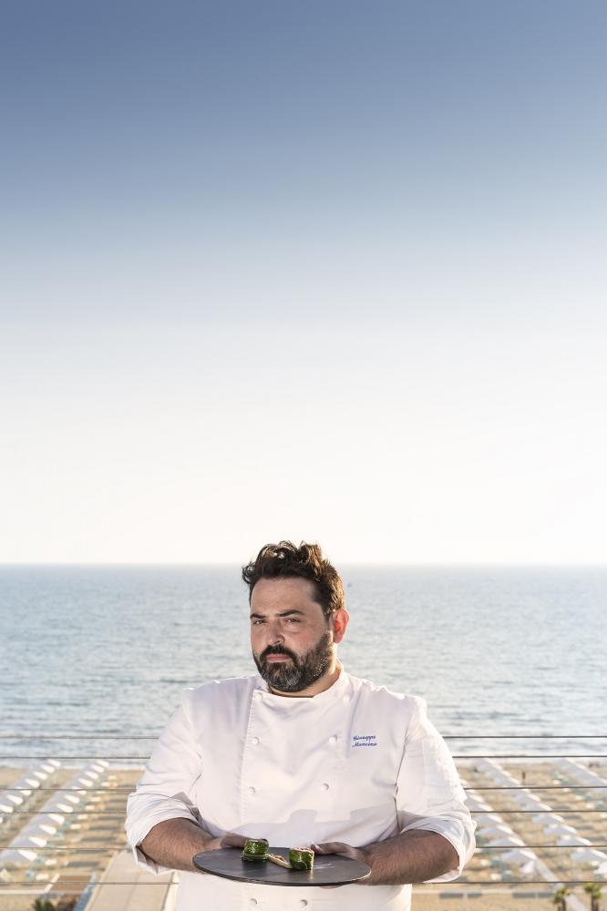 Lo chef Giuseppe Mancino