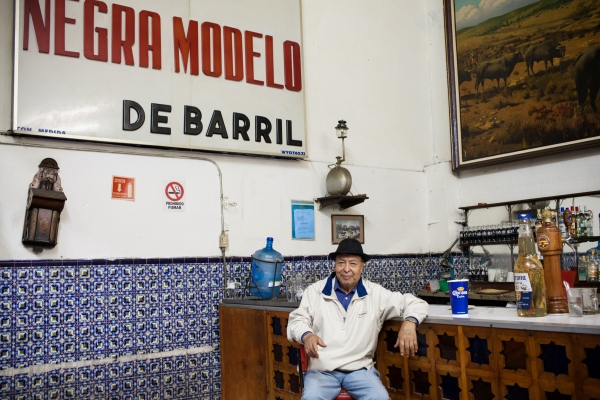 The owner of the Faena bar poses for a portrait in Mexico City, Mexico. Photographed for 360 Oslo airport magazine.