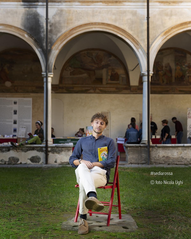 The joung Writer Giacomo Bernardi in Libropolis Festival Pietrasanta 2018