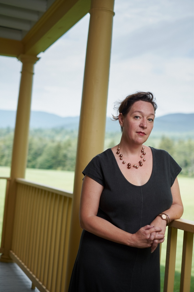 Photography image - Jennifer Grotz, Poet and Director of the Bread Loaf Writers Conference, Ripton, Vermont.