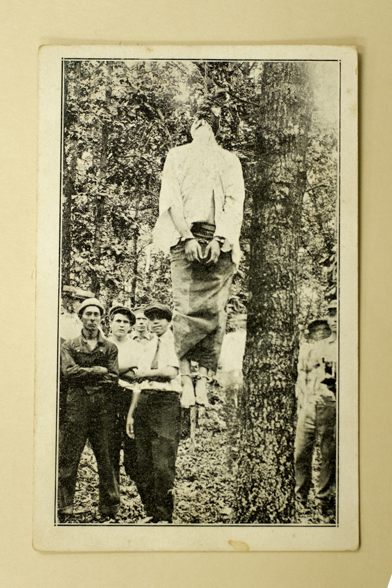 An original photograph of the Leo Frank lynching. (Cuba Family Archives for Southern Jewish History). Leo Frank was convicted of murdering Mary Phagan, a 13-year old employee at a factory where Mr. Frank was the superintendant. The case attracted national attention with many deeming the conviction as a travesty. Within Georgia, the outside criticism was the catalyst for an upsurge of anti-Semitism and hatred towards Frank, who was Jewish. After a judge commuted Frank's sentence from capital punishment to life in prison, a group of men who anointed themselves the Knights of Mary Phagen kidnapped Frank and lynched him in Phagan's hometown of Marietta, GA on August 17th, 1915. The lynching of Leo Frank led to the rebirth of the Ku Klux Klan.